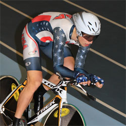 Taylor Phinney on the track
