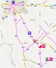 La carte du parcours de la troisième étape des 4 Jours de Dunkerque 2012 sur Google Maps