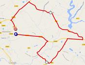 La carte du parcours du contre-la-montre Dames sur Google Maps