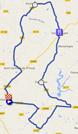 La carte du parcours du contre-la-montre Hommes sur Google Maps