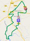 La carte du parcours du circuit de la course en ligne sur Google Maps