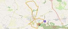 La carte du parcours du circuit des Championnats de France de cyclisme sur route 2020 sur Open Street Maps