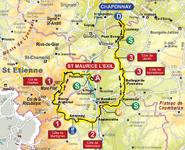 La carte de la troisième étape du Rhône Alpes Isère Tour (RAIT) 2011
