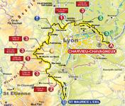 La carte de la quatrième étape du Rhône Alpes Isère Tour (RAIT) 2011