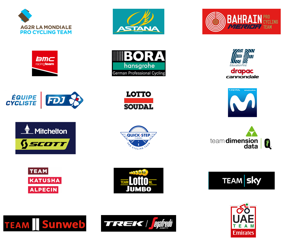 aa17e7d18 The UCI WorldTeams (UCI WorldTour) for 2018 and the other teams ...