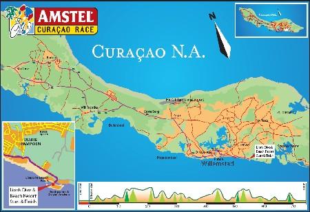 Le parcours de l'Amstel Curaçao Race 2009