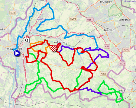 The map with the Amstel Gold Race 2019 race route