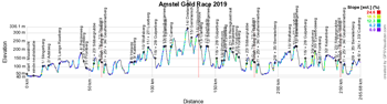 The profile of the Amstel Gold Race 2019