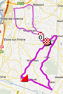 The map with the race route of La Drôme Classic 2013 on Google Maps