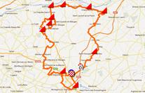 La carte du parcours de Cholet-Pays de Loire 2012 sur Google Maps