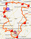 The Cholet-Pays de Loire 2013 race route on Google Maps