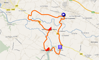 The Classic Loire Atlantique 2013 race route on Google Maps