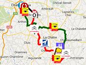 La carte du parcours de la Classic de l'Indre 2014 sur Google Maps
