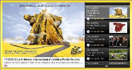 Quel est le lien entre l'éternelle quête des sommets (le titre du Tour de France 2010) et le Critérium International ?