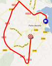 The race route of the second stage of the Critérium International 2012 on Google Maps
