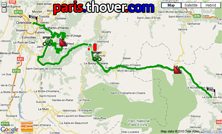 The route map of the fifth stage of the Critérium du Dauphiné 2010 on Google Maps