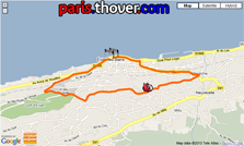 The route map of the prologue of the Critérium du Dauphiné 2010 on Google Maps