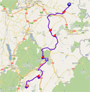 The race route of the sixth stage of the Critérium du Dauphiné 2011 on Google Maps