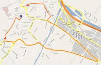 La carte du parcours du prologue du Critérium du Dauphiné 2011 sur Google Maps
