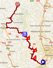 The race route of the third stage of the Critérium du Dauphiné 2012 on Google Maps