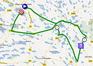 The race route of the fourth stage of the Critérium du Dauphiné 2013 on Google Maps