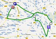 De kaart met het parcours van de vierde etappe van het Critérium du Dauphiné 2013 op Google Maps