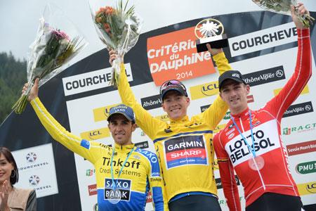 Le podium du Critérium du Dauphiné - photo © A.S.O./G. Demouveaux