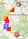 De kaart met het parcours van de achtste etappe van het Critérium du Dauphiné 2015 op Google Maps