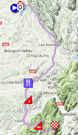 The map with the race route of the 4th stage of the Critérium du Dauphiné 2018 on Google Maps