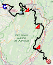 The map with the race route of the 7th stage of the Critérium du Dauphiné 2019 on Open Street Maps