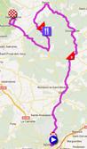 La carte du parcours de l'étape 2 de l'Etoile de Bessèges 2012 sur Google Maps