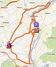 La carte du parcours de l'étape 1 de l'Etoile de Bessèges 2013 sur Google Maps