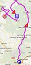 La carte du parcours de l'étape 2 de l'Etoile de Bessèges 2013 sur Google Maps