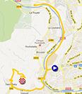 La carte du parcours de l'étape 6 de l'Etoile de Bessèges 2013 sur Google Maps