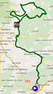 The map with the race route of stage 2 of the Etoile de Bessèges 2015 on Google Maps