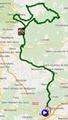 De kaart met het parcours van etappe 2 van de Etoile de Bessèges 2015 op Google Maps