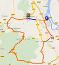 De kaart met het parcours van etappe 4 van de Etoile de Bessèges 2015 op Google Maps