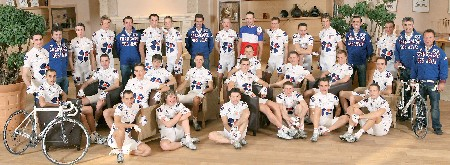 The Française des Jeux 2008 team photo