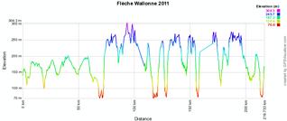 Le profil de la Flèche Wallonne 2011