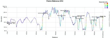 Le profil de la Flèche Wallonne 2012