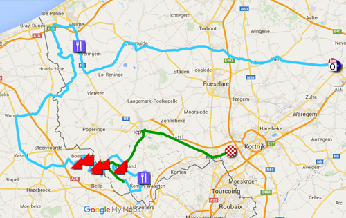 Download the Ghent-Wevelgem 2016 race route in Google Earth