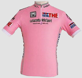 The Tour of Italy 2009 pink jersey