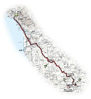 07 - Carrara > Montalcino - route