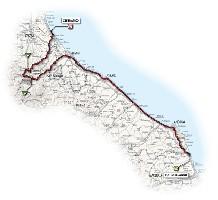 13 - Porto Recanati > Cesenatico - route