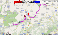 The route of the seventeenth stage of the Giro d'Italia 2010 on Google Maps
