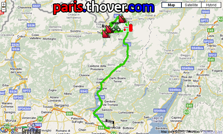 The route of the nineteenth stage of the Giro d'Italia 2010 on Google Maps