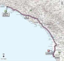 04 - Quarto dei Mille > Livorno - stage route