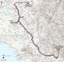 06 - Orvieto > Fiuggi Terme - stage route