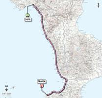 08 - Sapri > Tropea - stage route