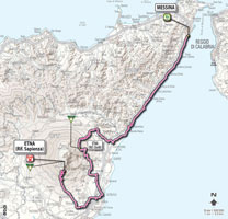 09 - Messina > Etna - stage route
